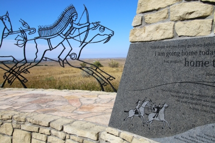 Indian Memorial at Little Bighorn Battlefield National Monument,