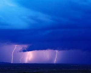 Lightning from Blue Cloud