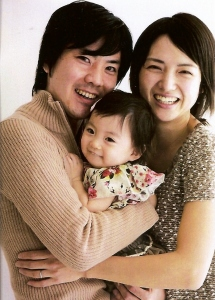 Kazumi, Yoshi & baby Wakana (December 2012)