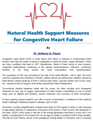CONGESTIVE HEART FAILURE - Natural Support