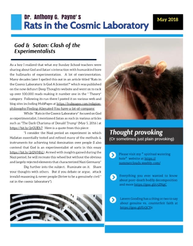 RATS IN THE COSMIC LABORATORY NL - May 2018
